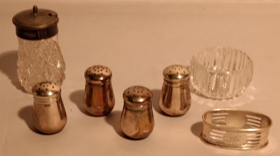 Sterling Silver Salt & Pepper and Sugar Bowls