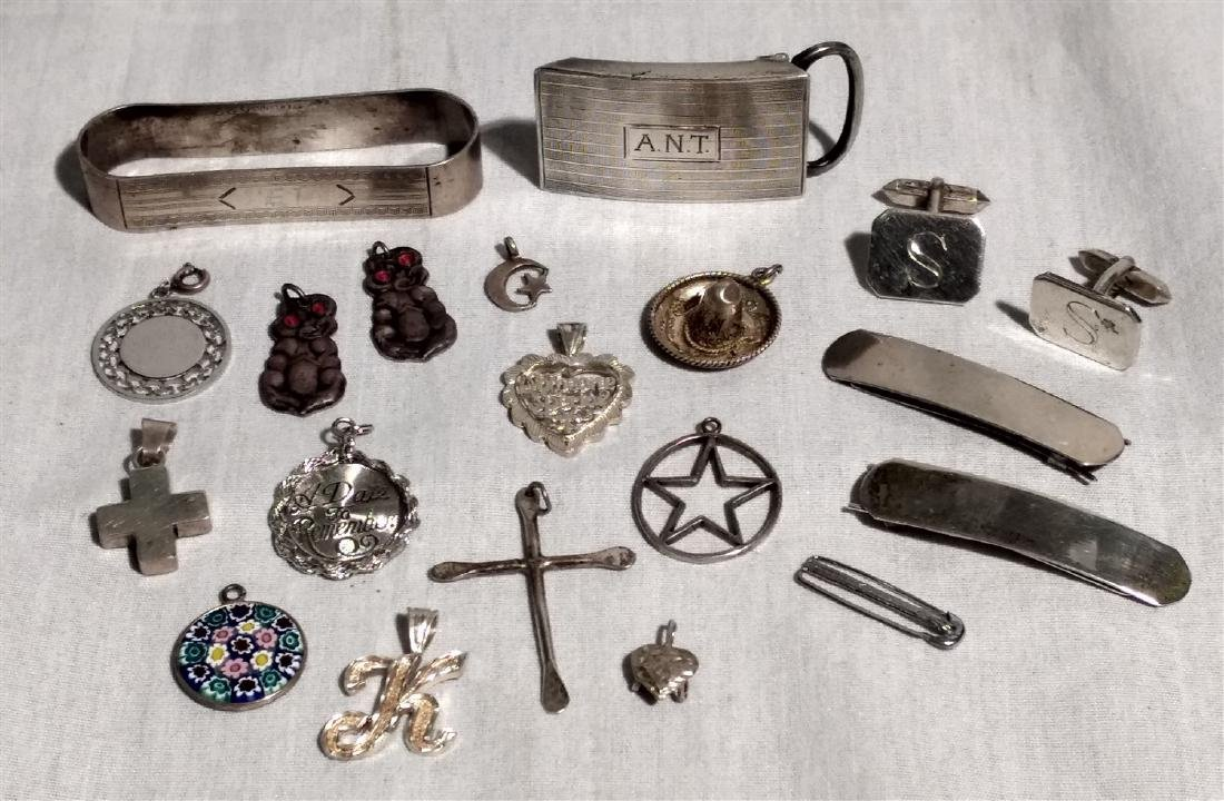 Sterling Silver Grouping of twenty pieces.