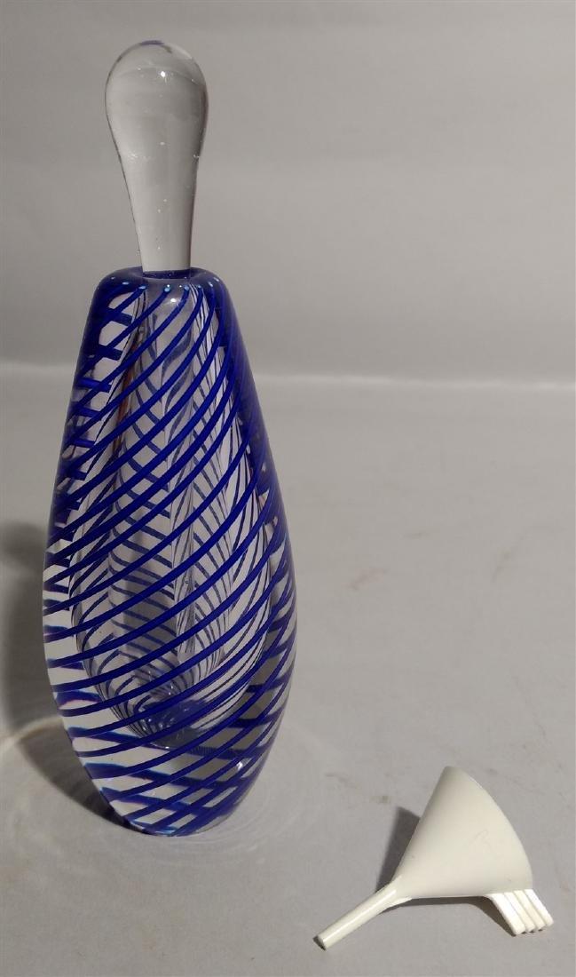 Studio  Art Glass Swirl Perfume Bottle