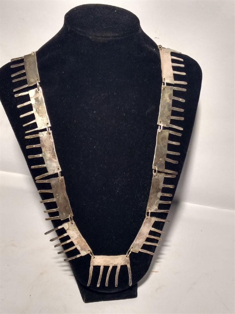 Brutalist Modernist Necklace May be Silver