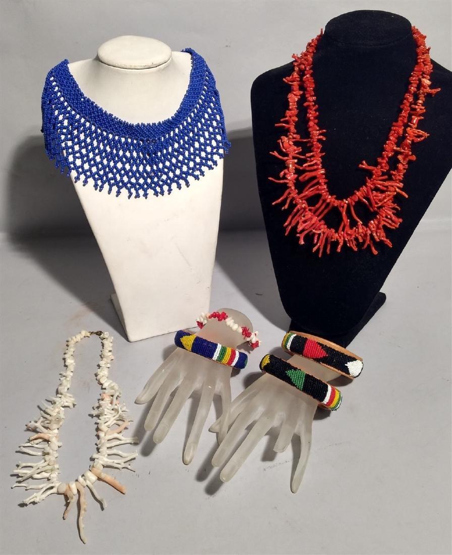 Jewelry Vintage Lot Bangle Bracelets, Collar, Southwest