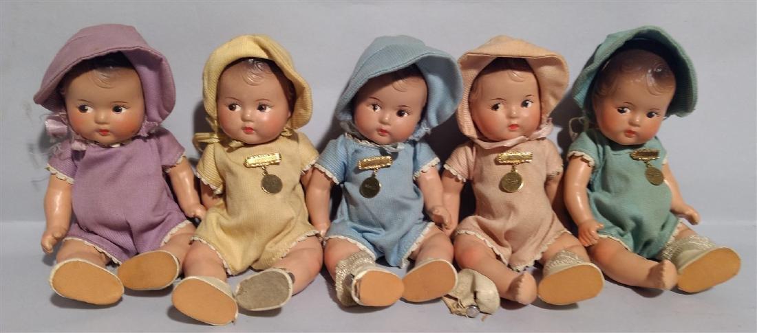 1930's Madame Alexander Dionne Quintuplets Dolls
