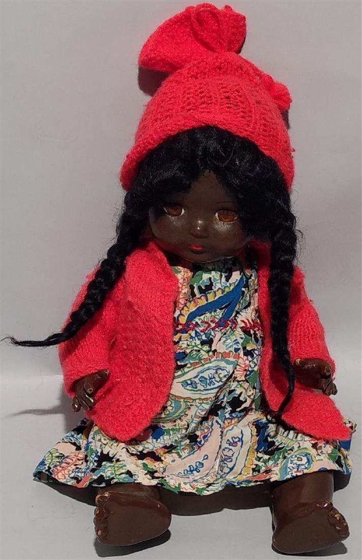 1940's - 50's Rosebud Black African American Doll