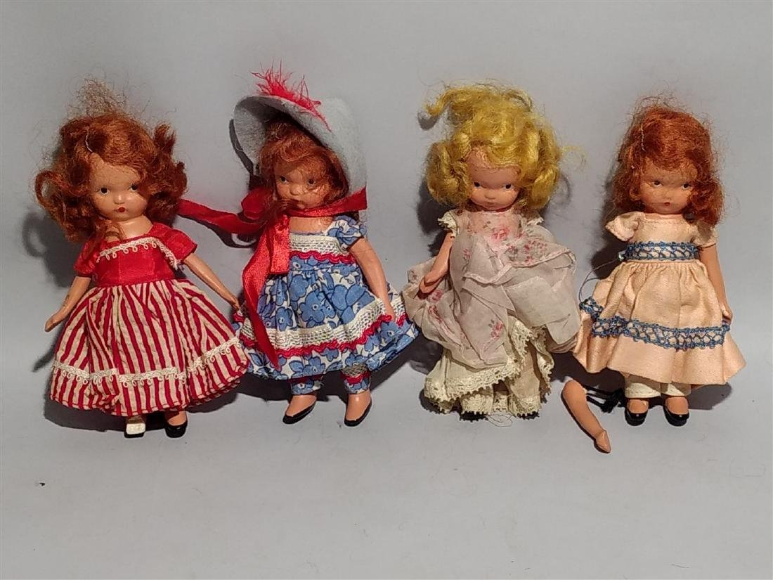 Nancy Ann Story Book Doll  1930's -40's Lot of 4