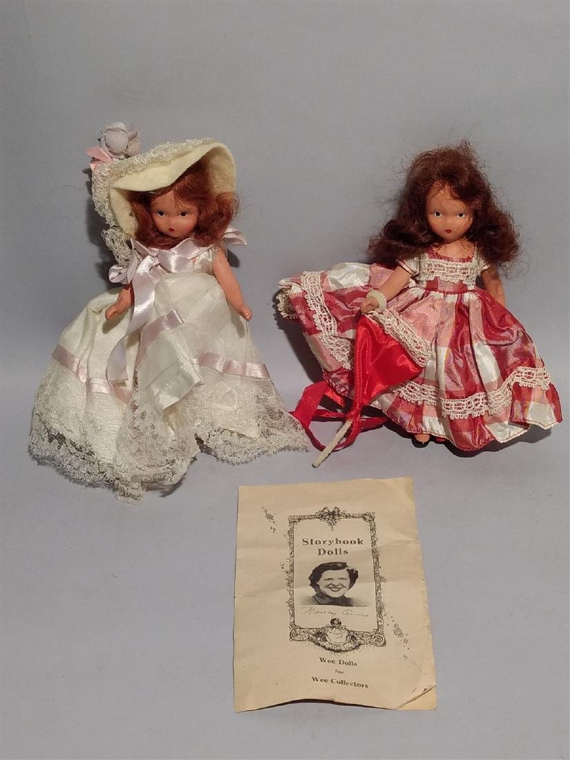 Antique Nancy Ann Story Book Doll 1930's -40's Lot of 2