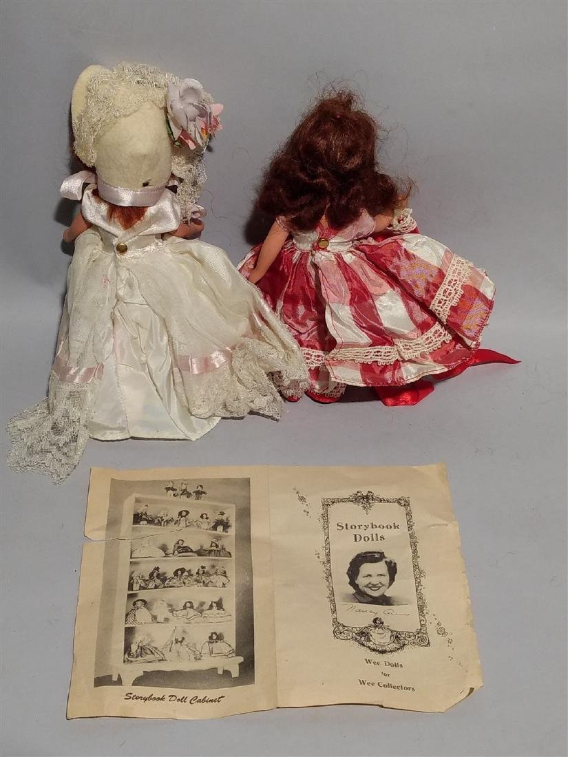 Antique Nancy Ann Story Book Doll 1930's -40's Lot of 2 - 2