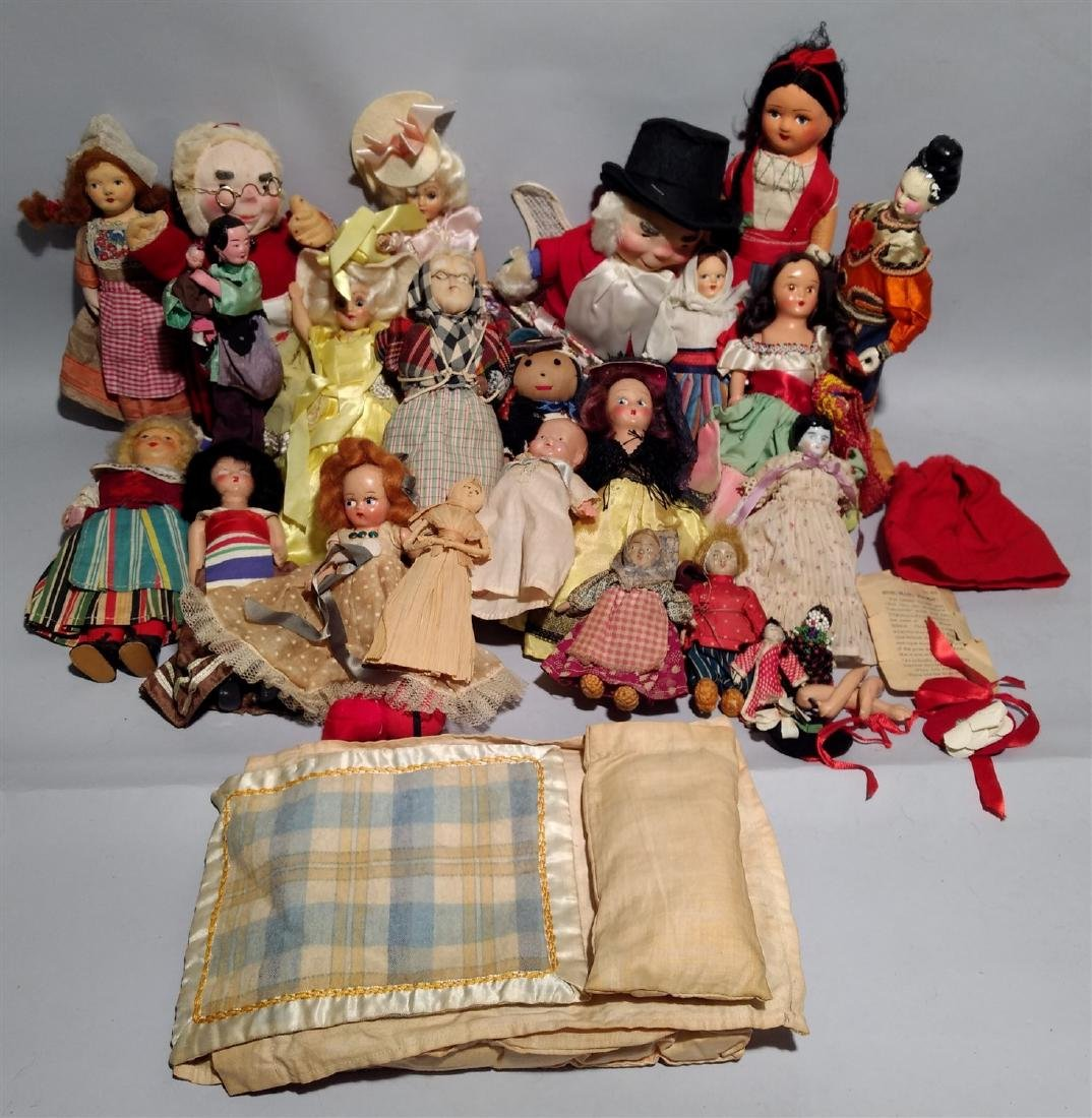 Mixed Lot of Antique Dolls 1930's and Up