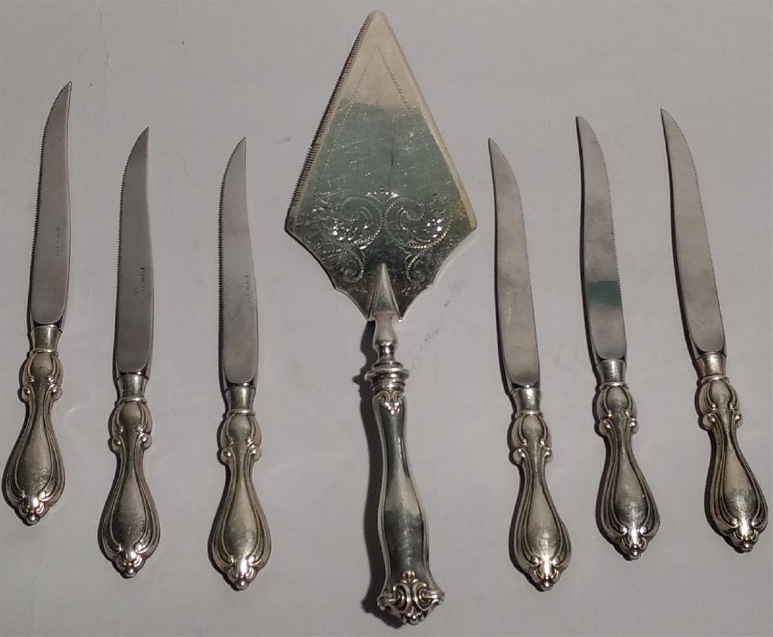 Sterling Silver Lot-Knives and Server