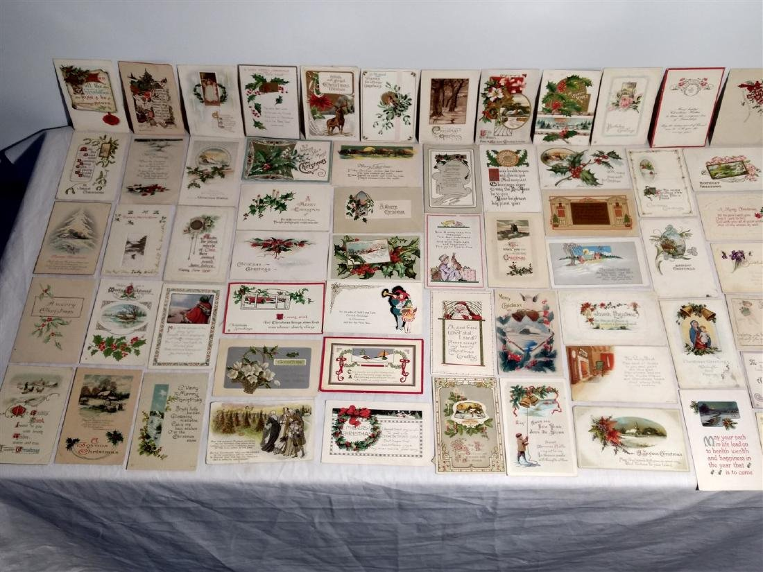 Antique Post Cards 1908-1922 Lot of 60