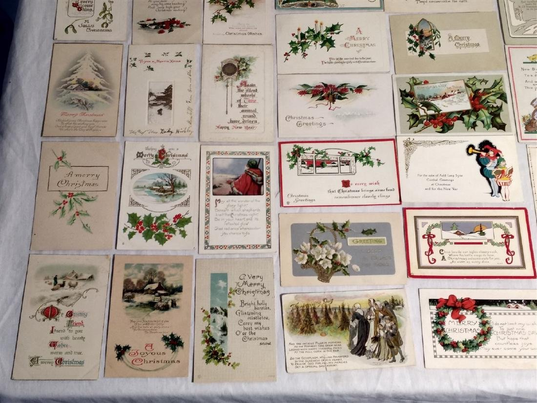 Antique Post Cards 1908-1922 Lot of 60 - 6