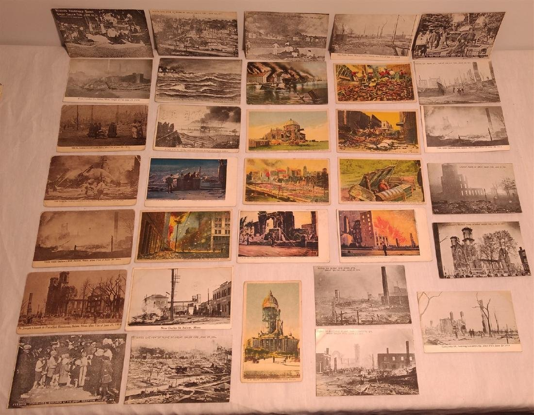 Antique Post Cards Disaster Theme Lot
