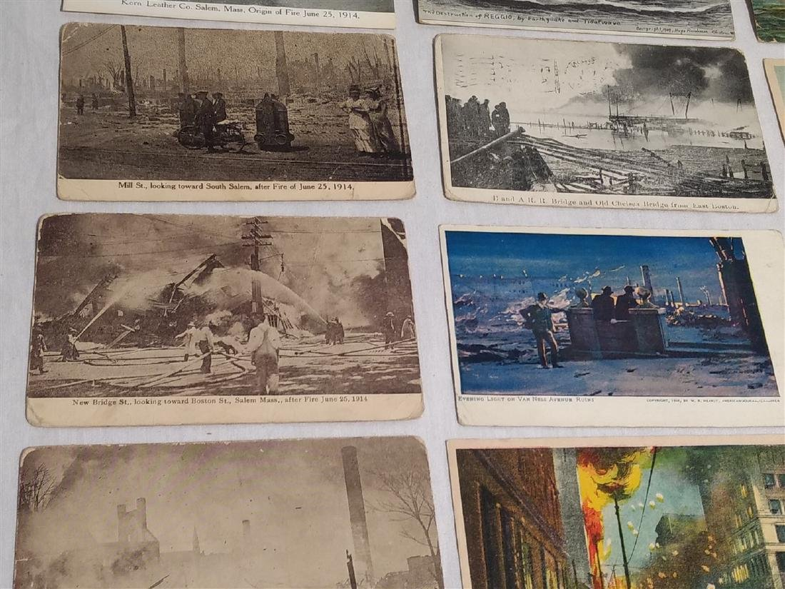 Antique Post Cards Disaster Theme Lot - 3