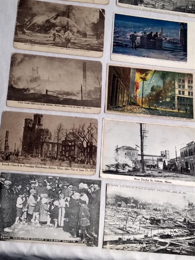 Antique Post Cards Disaster Theme Lot - 4