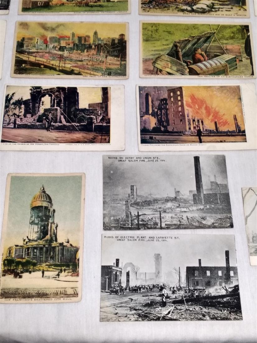 Antique Post Cards Disaster Theme Lot - 6
