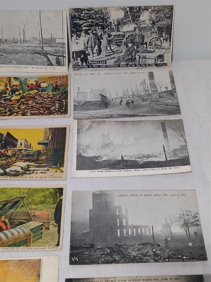 Antique Post Cards Disaster Theme Lot - 7