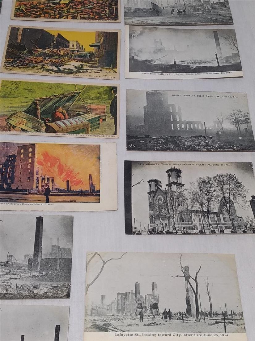 Antique Post Cards Disaster Theme Lot - 8