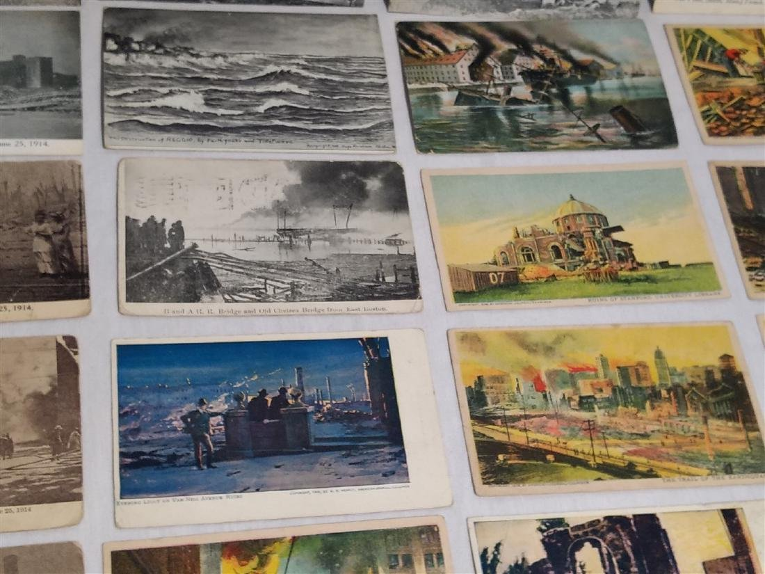 Antique Post Cards Disaster Theme Lot - 9