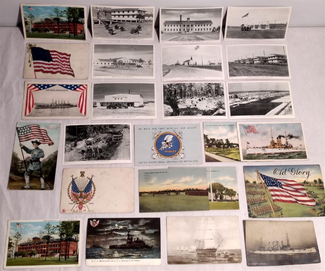 Antique Post Cards Military & Patriotic Theme