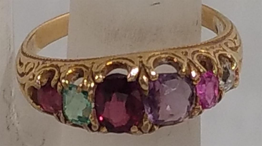 Jewelry 14k gold, 19 C Birthstone Ring Size 5