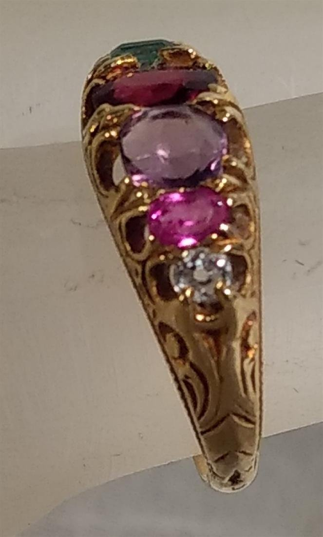 Jewelry 14k gold, 19 C Birthstone Ring Size 5 - 2
