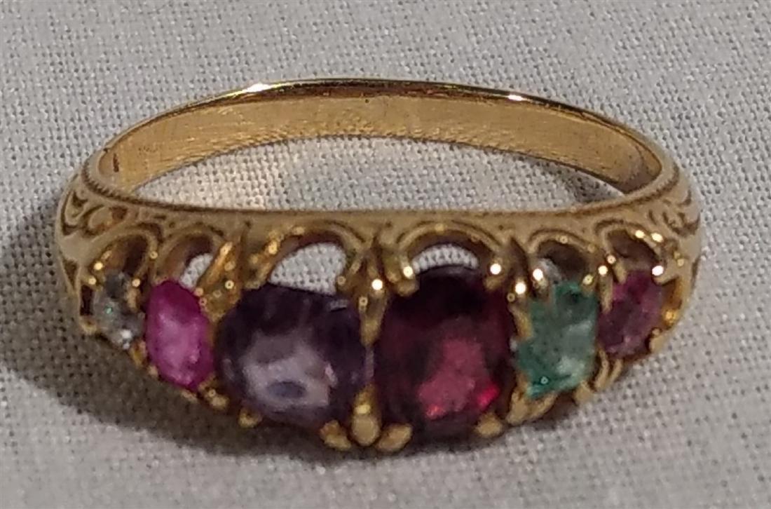 Jewelry 14k gold, 19 C Birthstone Ring Size 5 - 3