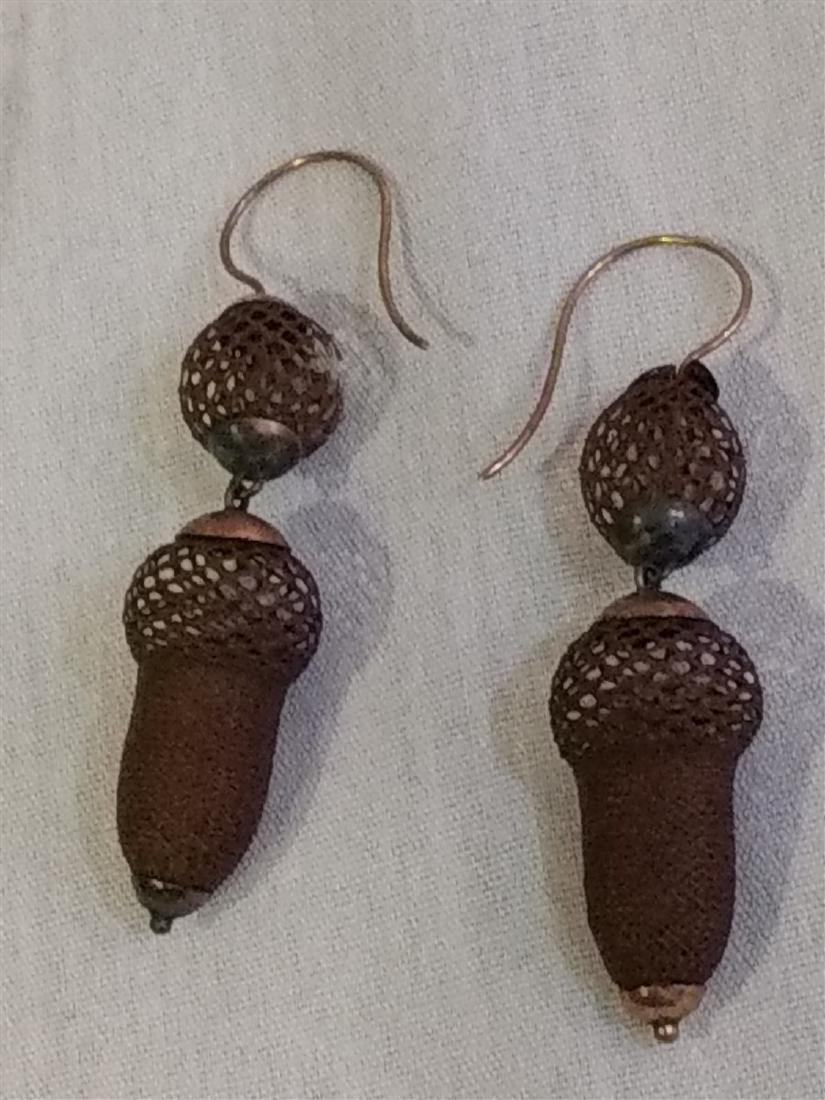 Victorian Mourning Jewelry, Bracelet, Earrings, Brooch - 4