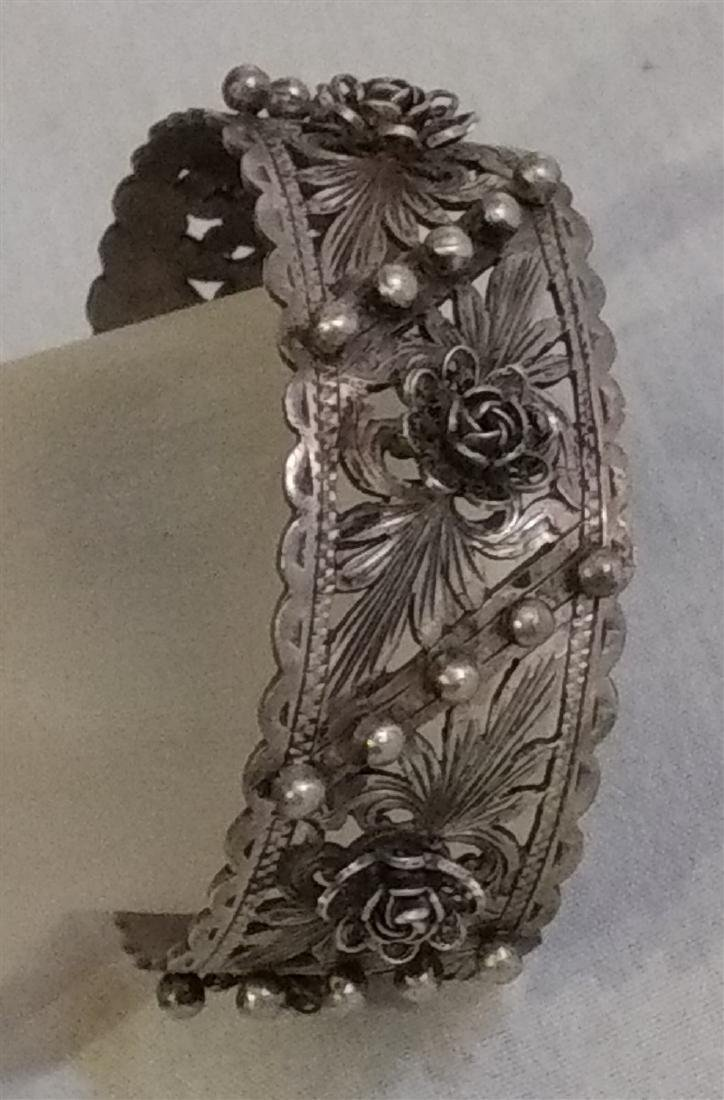 Jewelry Vintage Florence Italy Cuff Bracelet - 2