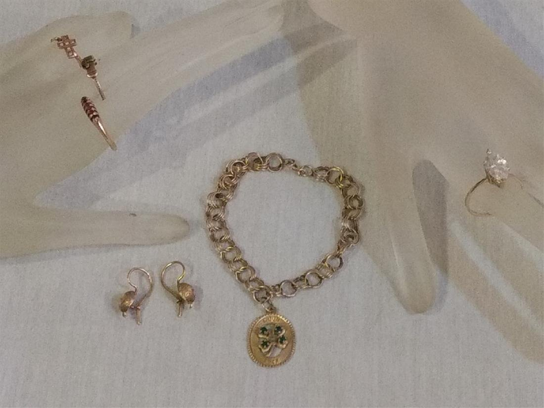 Gold Jewelry Grouping As Found in the Estate