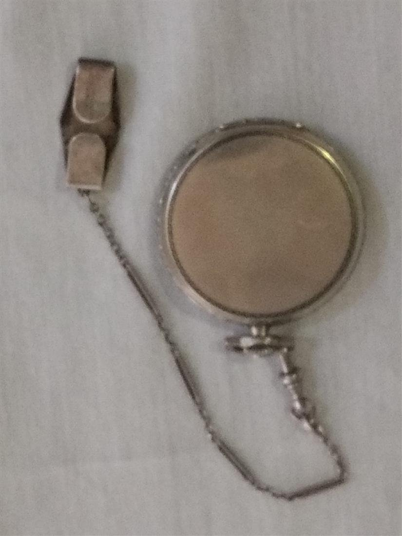 Antique 17 Jewel Huguenin Pocket Watch,Sterling Fob - 3