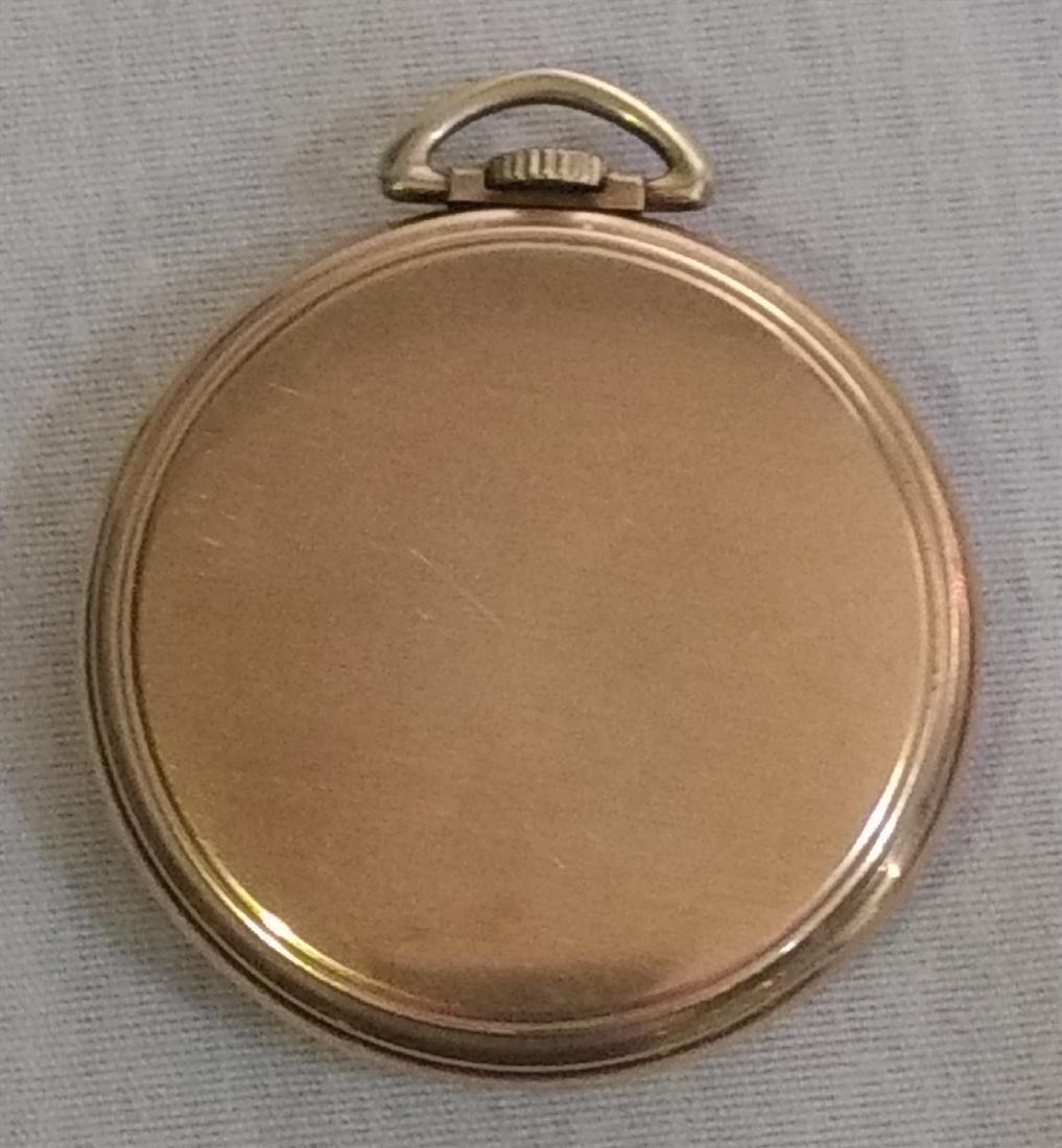 Antique Pocket Watch Open Face Waltham 21 Jewels 10k pl - 3
