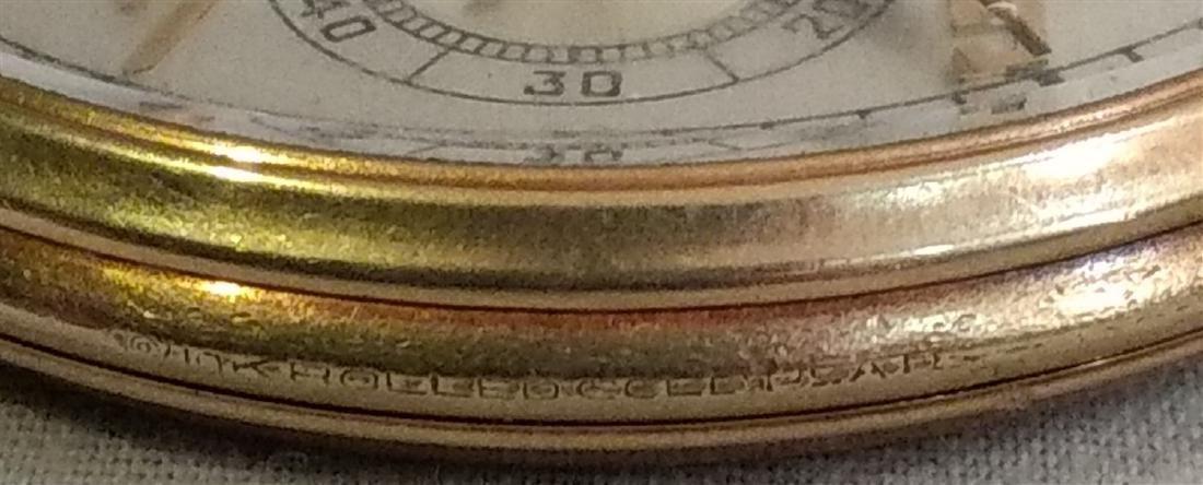 Antique Pocket Watch Open Face Waltham 21 Jewels 10k pl - 4