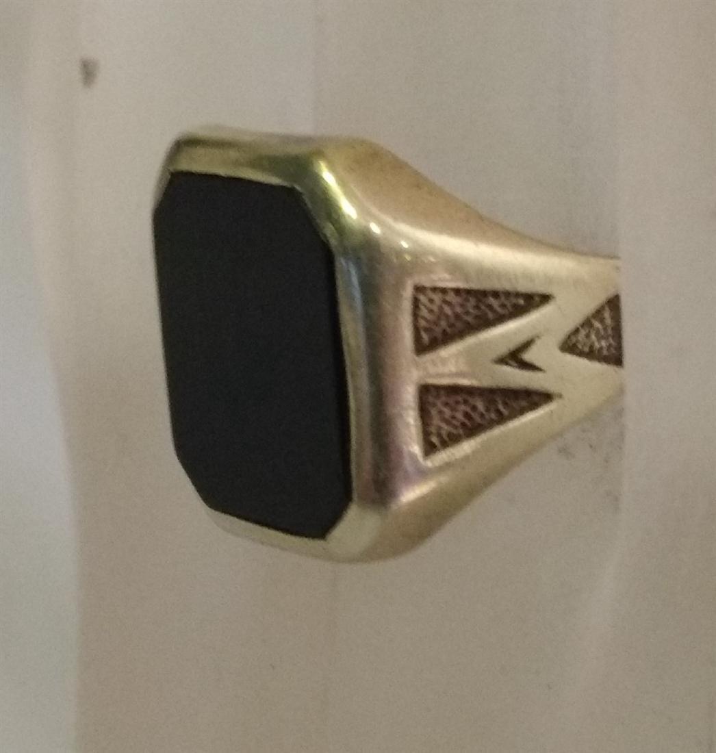 Jewelry Vintage 14K Gold Onyx Ring