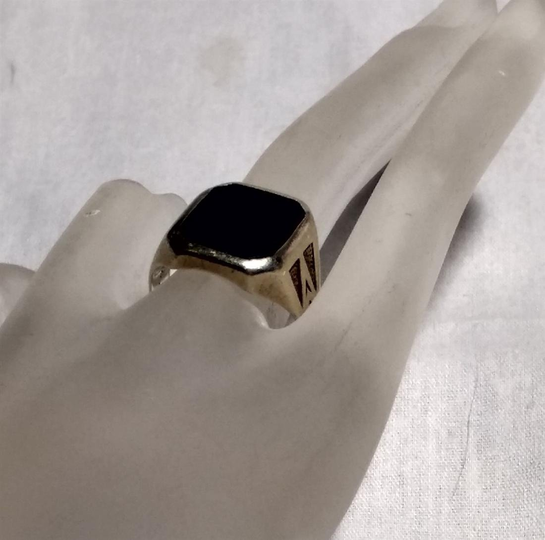 Jewelry Vintage 14K Gold Onyx Ring - 3