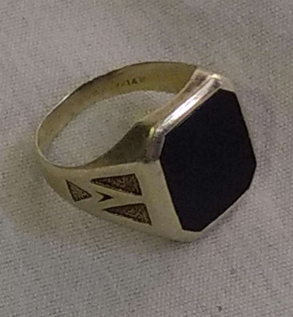 Jewelry Vintage 14K Gold Onyx Ring - 4