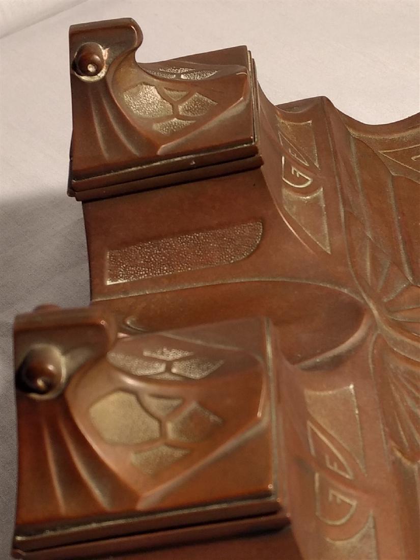 Bronze Art Deco, Egyptian Revival Inkwell - 4