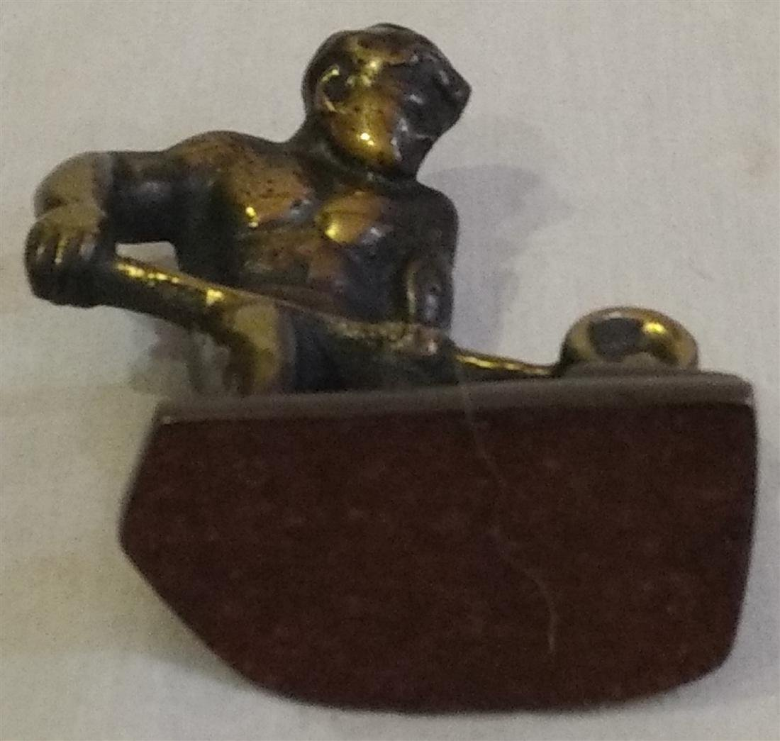 Bronze Blacksmith Pouring a Cast Paperweight - 3