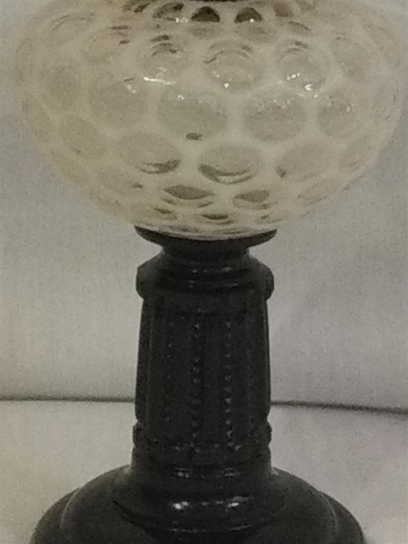 19th  Century Coin Dot Oil Lamp - 3