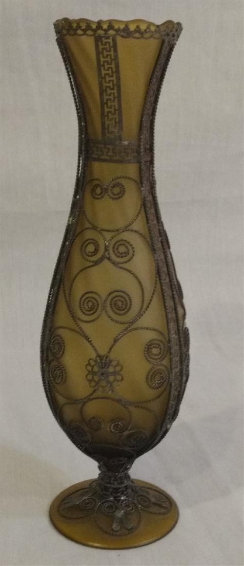 Art Glass Iridescent Vase