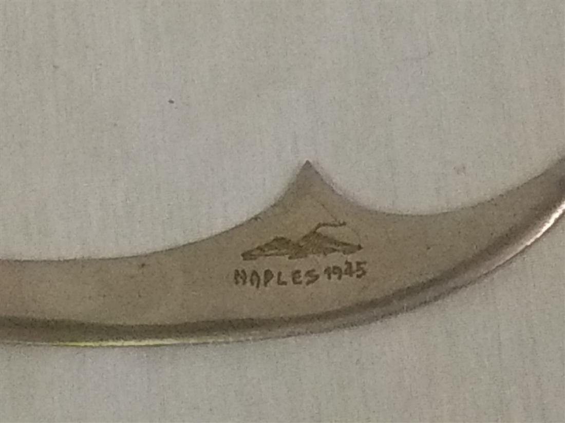 1945 WWll Naples, Italy Sword Letter Opener, Soldier - 2