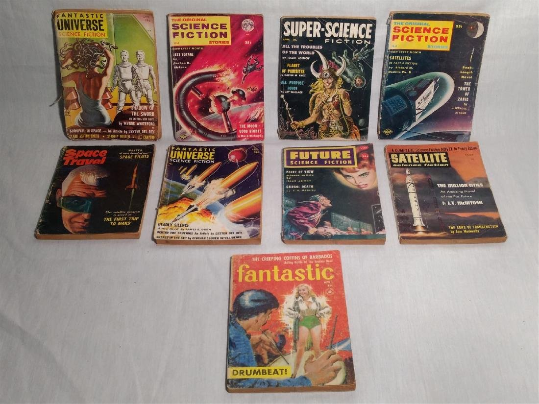 1950's Pulp Magazines Groups of 9