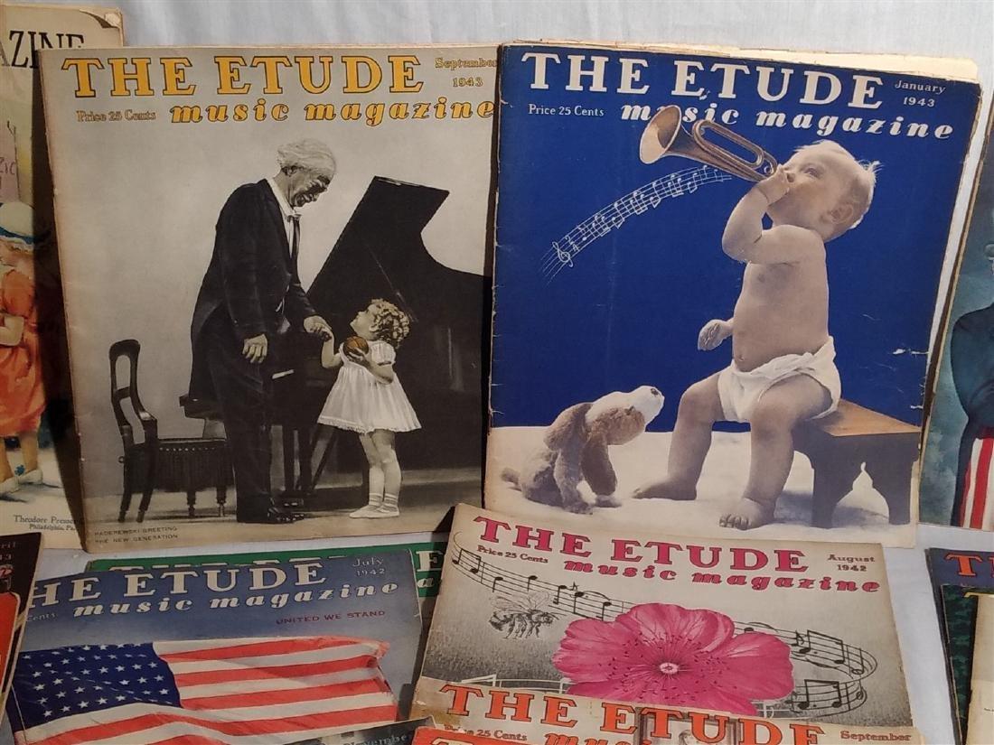 Group of 27 Antique The Etude Music Magazines - 2