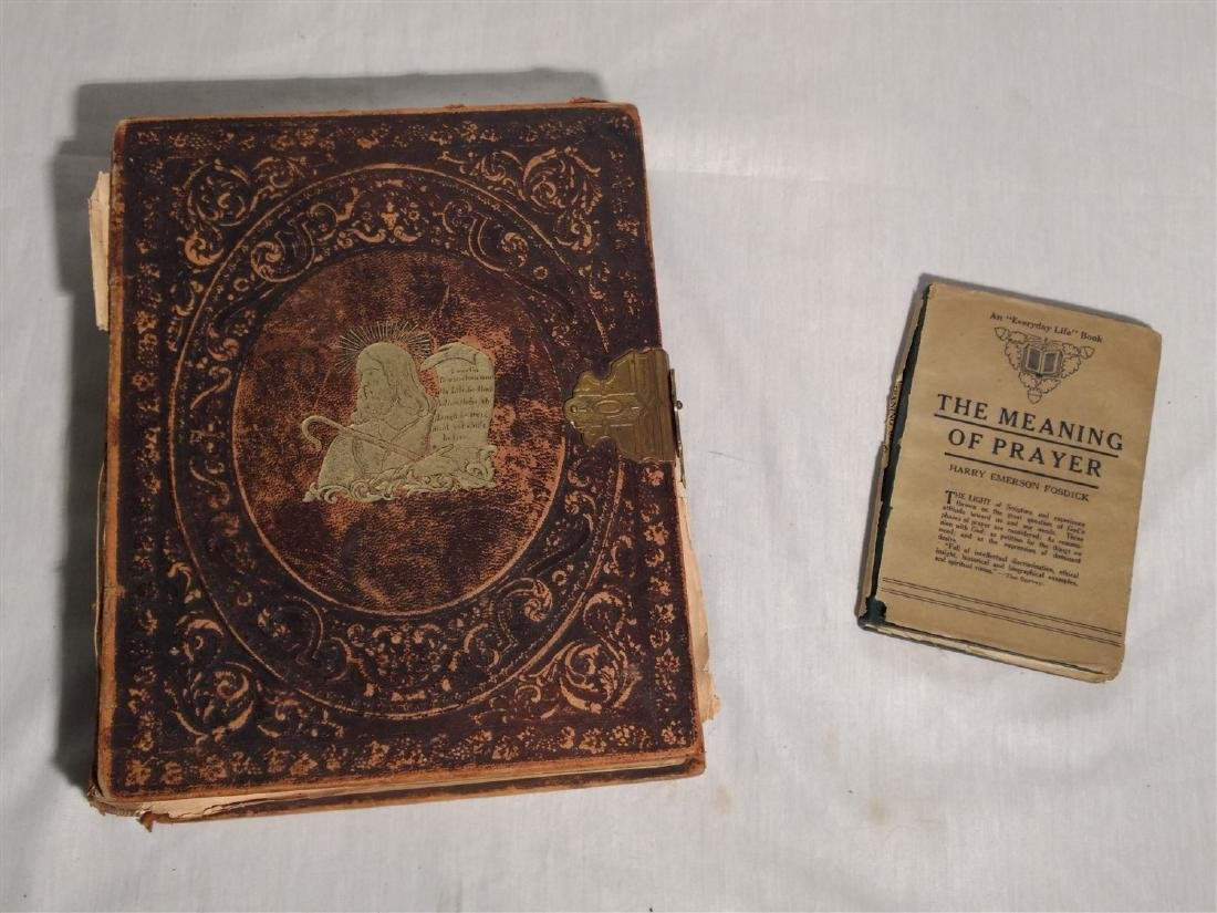 1869 Family Bible & 1915 Prayer Book
