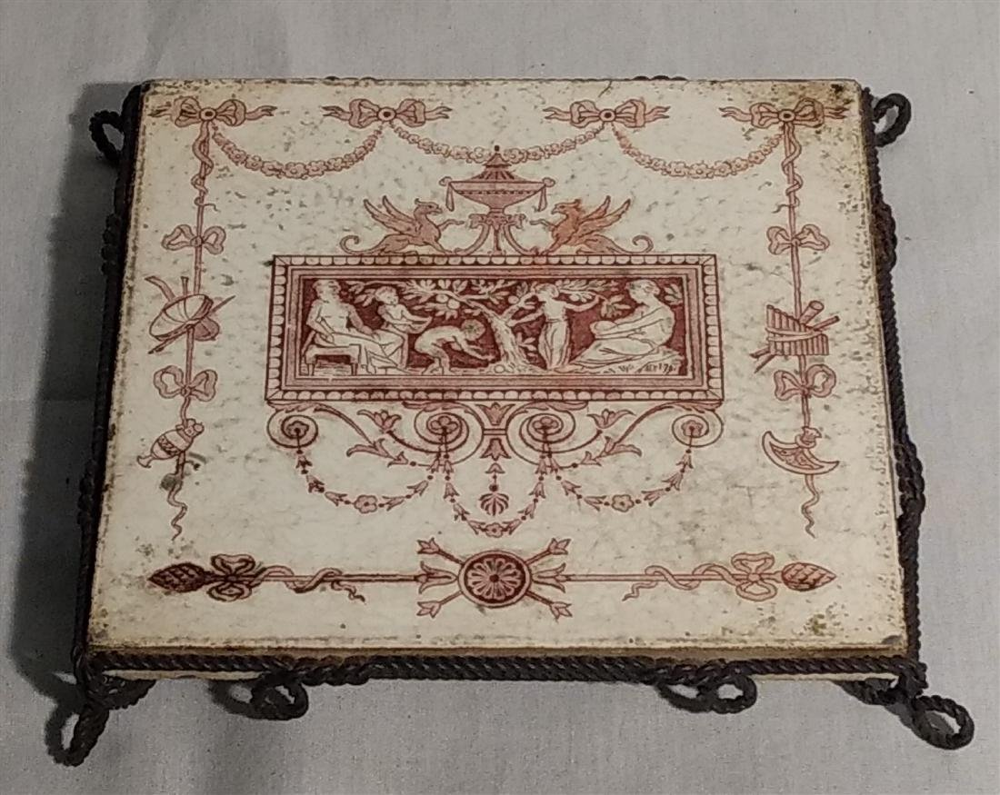 Josiah Wedgewood & Sons Tile in Stand