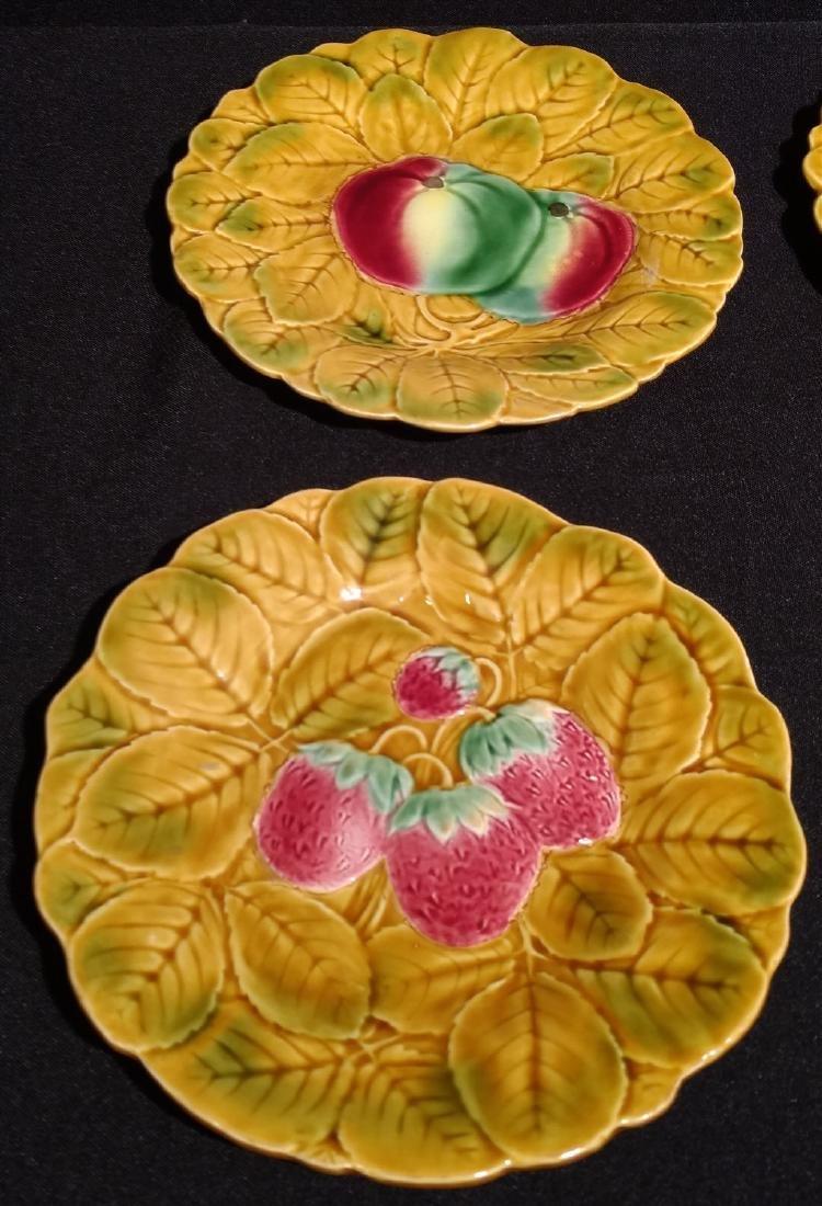 Six Antique Majolica Fruit Plates- PV France - 2