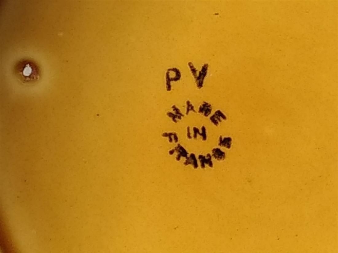 Six Antique Majolica Fruit Plates- PV France - 7