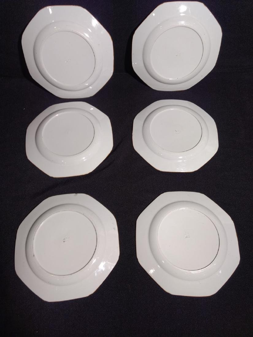 Antique Six Minton Dinner Plates- Rare Pattern - 3