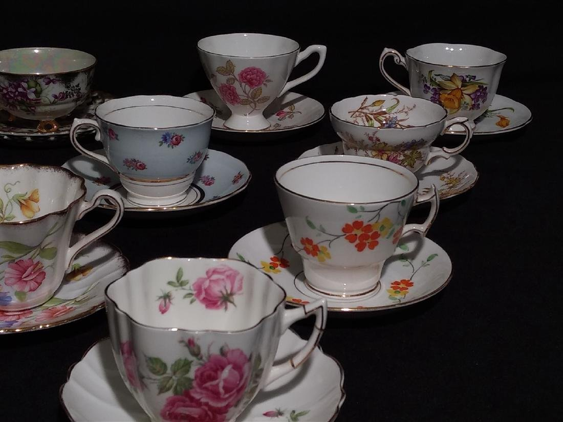 Vintage Bone China Tea Cups and Saucers- Lot of 14 - 4