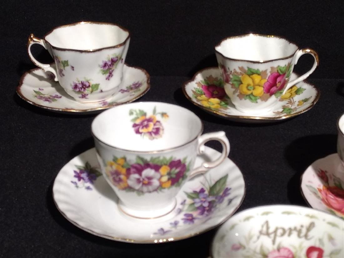 Vintage Bone China Tea Cups and Saucers- Lot of 14 - 6