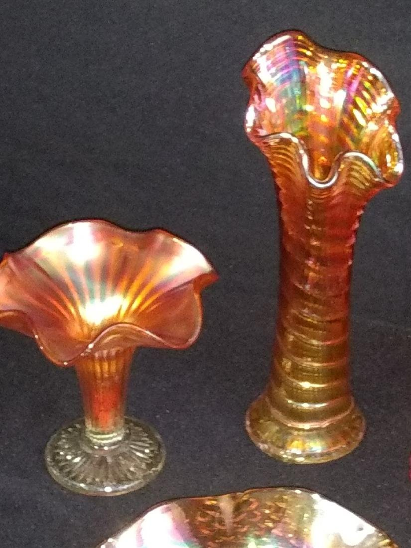 Vintage Carnival Glass 8 Piece Lot - 2
