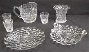 Vintage Fostoria American Cubist Pattern Glassware 7